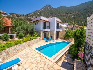 3 bedroom villa in kalkan with private swimming pool and sea view