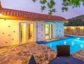 Luxury villa in Kayakoy in a shared complex yet is completely sec