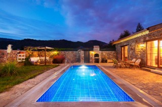 3 bed country villa in Kayakoy with secluded swimming pool, Jacuz