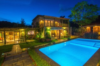 3 bed stone villa in kayakoy with secluded swimming pool and gard