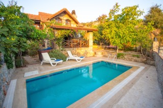 Villa Ugur stone wall villa with private discreet pool in Kayakoy