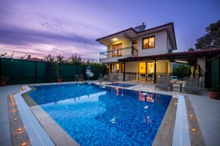 3 bedroom villa in Kayakoy sleeps 5 people with secluded pool