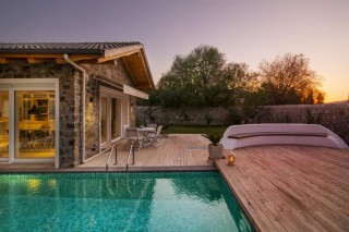 Luxury 3 bed Villa in Kayakoy with private swimming pool.