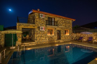 Luxury 3 bed villa in kayakoy with completely secluded swimming p