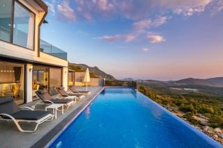 3 bedroom luxury villa in Kalkan with indoor and outdoor pool