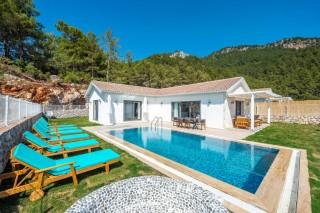 2 bedroom villa in Faralya sleeps 4 people with pool and sea view